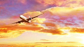 Airplane flying Stock Image