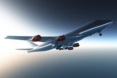 Airplane Flying 3D render 01 Stock Photo