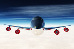 Airplane Flying 3D render 04 Stock Images