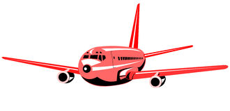 Airplane flying Royalty Free Stock Image
