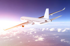 Airplane flying concept. Royalty Free Stock Image