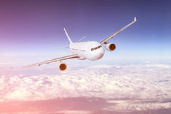 Airplane flying concept. Royalty Free Stock Images