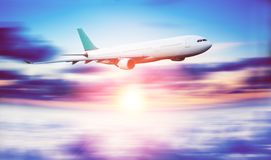 Plane and travel stock image