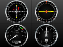 Airplane flying instruments Stock Image