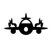 Airplane flying insurance isolated icon. Illustration design Royalty Free Stock Photos