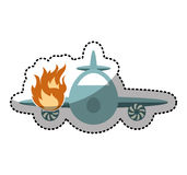 Airplane flying insurance isolated icon. Illustration design Stock Photos