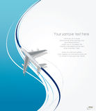 Airplane flying on line background Stock Image