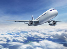 Airplane flying royalty free stock photo