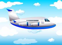Airplane flying in the sky. Illustration stock illustration