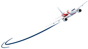 Airplane flying up on white background Royalty Free Stock Photo