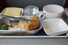 Airplane food Royalty Free Stock Photo