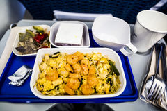 Airplane food Royalty Free Stock Photos