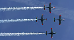 Airplane formation Stock Image