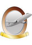 Airplane frame Stock Photography