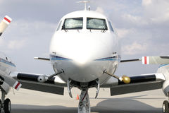 Airplane Front Royalty Free Stock Image