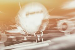 Airplane front close-up Royalty Free Stock Photography