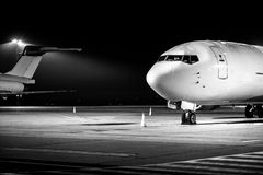 Airplane front close-up Royalty Free Stock Image