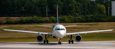 Airplane Front Close-up View Royalty Free Stock Photos