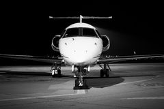 Airplane  front. A airplane front detail black and white Royalty Free Stock Photo