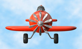 Airplane front - isolated stock illustration