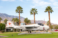 Airplane in front of Palm Springs Air Museum. Palm Springs, CA, USA  - November 26, 2016: Airplane in front of Air Museum of WWII Stock Photos