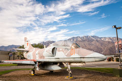 Airplane in front of Palm Springs Air Museum. Palm Springs, CA, USA  - November 26, 2016: Airplane in front of Air Museum of WWII Royalty Free Stock Photo