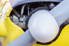 Airplane Front Propeller Royalty Free Stock Photo