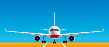 Airplane front view Royalty Free Stock Photography