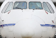 Airplane Front View Stock Image