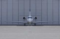 Airplane front view. Small private airplane front view Royalty Free Stock Photography