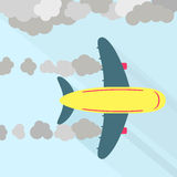 Airplane fuming royalty free illustration