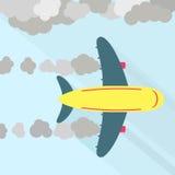 Airplane fuming Royalty Free Stock Image