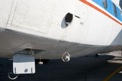 Airplane fuselage with screw caps Stock Photography