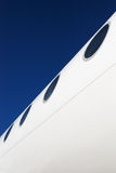 Airplane fuselage with windows Royalty Free Stock Photography