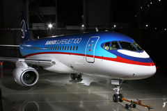 Airplane of future Stock Photo