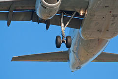 Airplane gears Stock Images