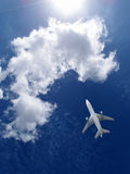 Airplane going up Royalty Free Stock Photography