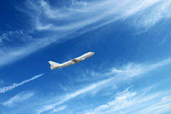 Airplane going up Royalty Free Stock Photo