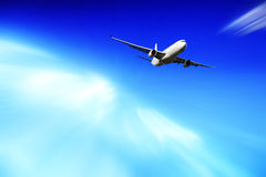 Airplane going up Stock Photos