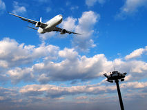 Airplane going up royalty free stock photos