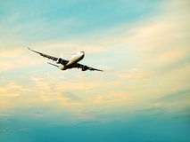Airplane going up Stock Photography