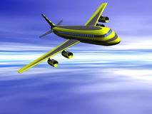 Airplane, going on vacation. Royalty Free Stock Photos