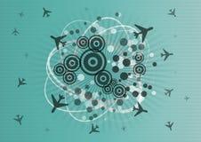 Airplane graphic Royalty Free Stock Photos