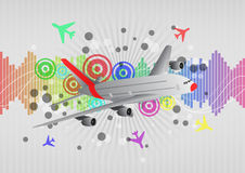 Airplane graphic Royalty Free Stock Images