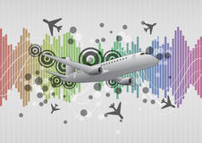 Airplane graphic Royalty Free Stock Photography