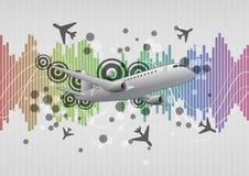 Airplane graphic. Illustration of modern airplane with graphic effect royalty free illustration