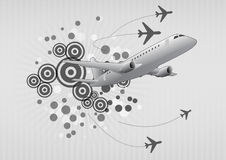Airplane graphic Royalty Free Stock Image