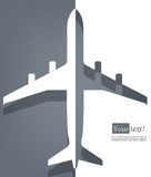 Airplane gray Royalty Free Stock Photo