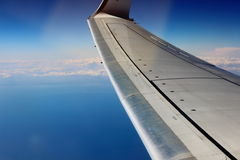 Airplane in heaven Stock Image
