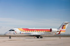 Airplane of Iberia Stock Photo